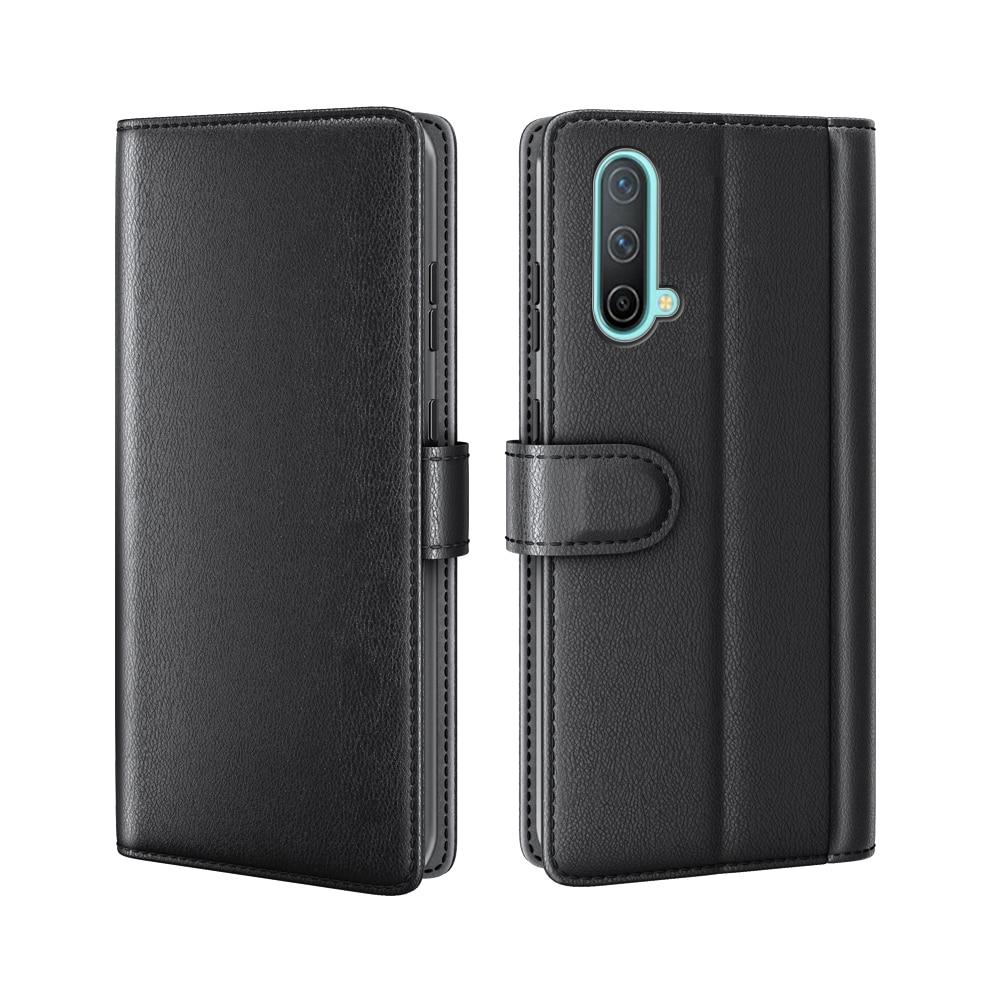 Äkta Läderfodral OnePlus Nord CE 5G svart