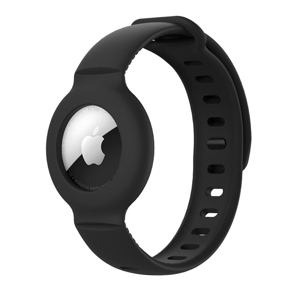 Silikonarmband Apple AirTag svart