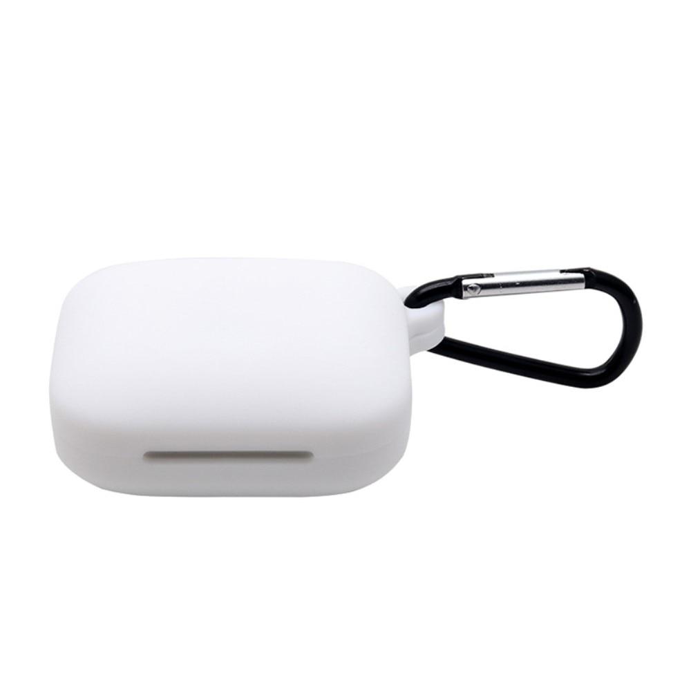 Silikonskal med karbinhake OnePlus Buds Pro vit