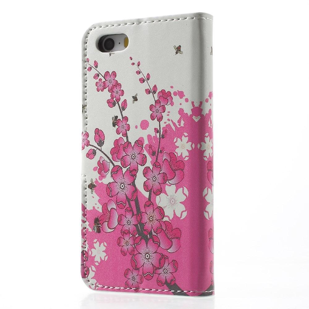 Plånboksfodral Apple iPhone SE/5S/5 körsbärsblom