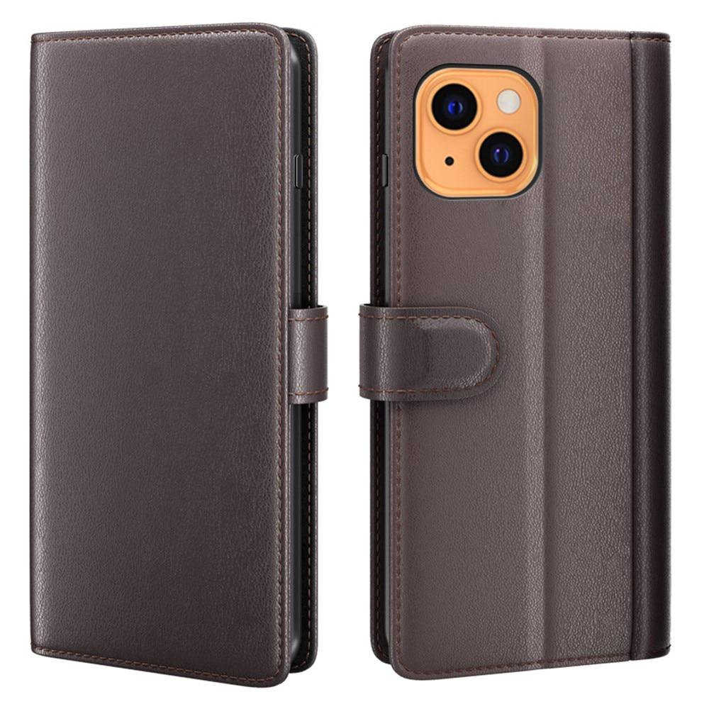 Äkta Läderfodral iPhone 13 Mini brun
