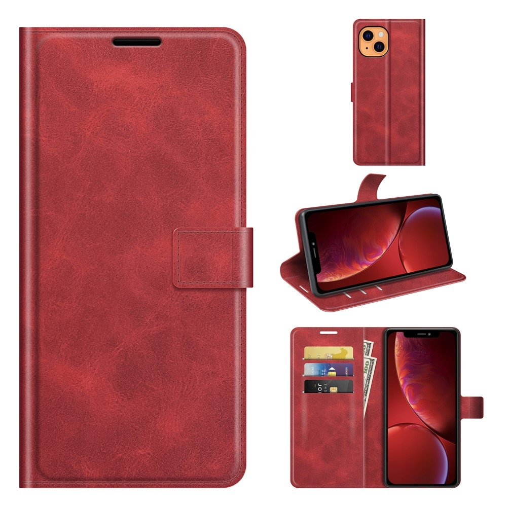Leather Wallet iPhone 13 Red