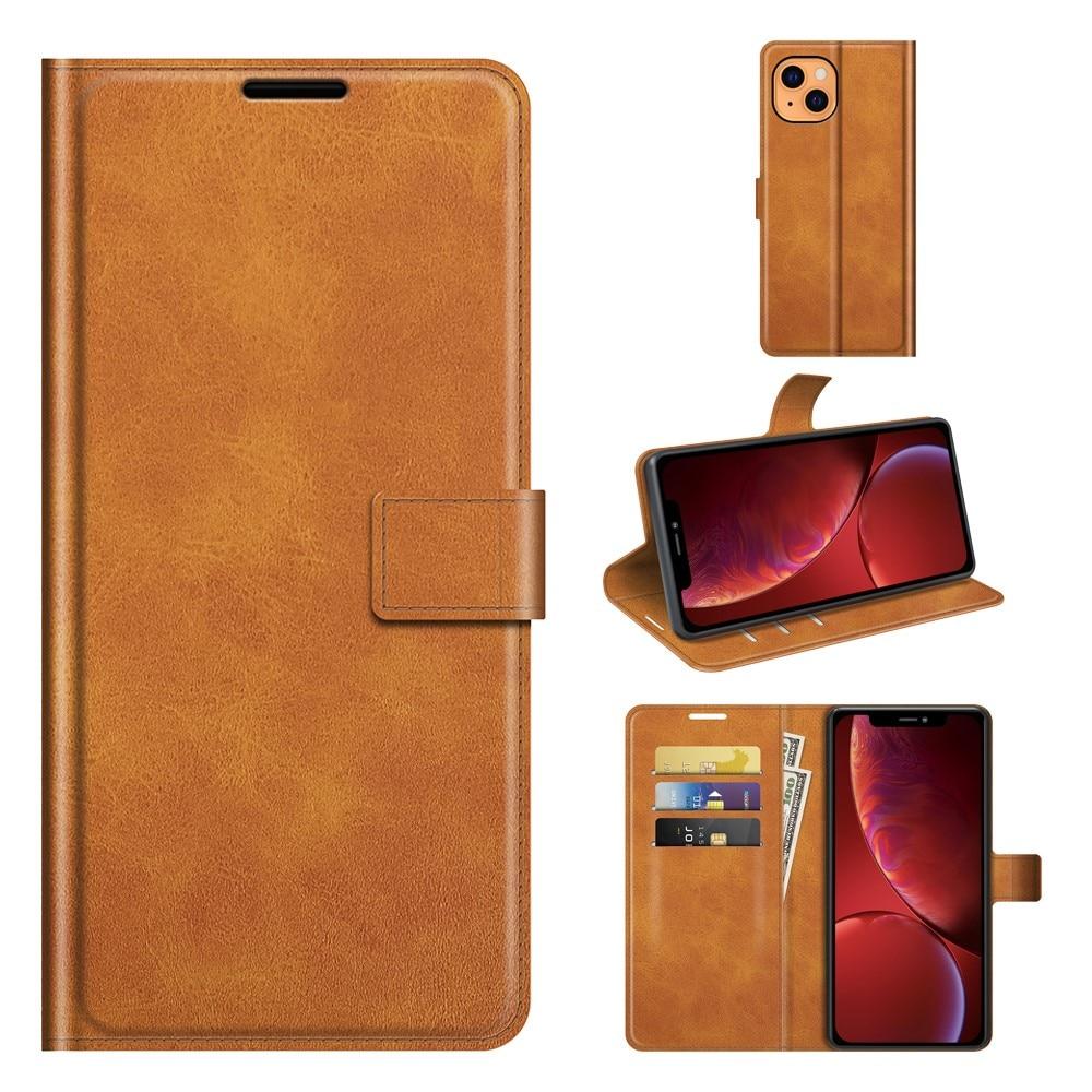 Leather Wallet iPhone 13 Cognac