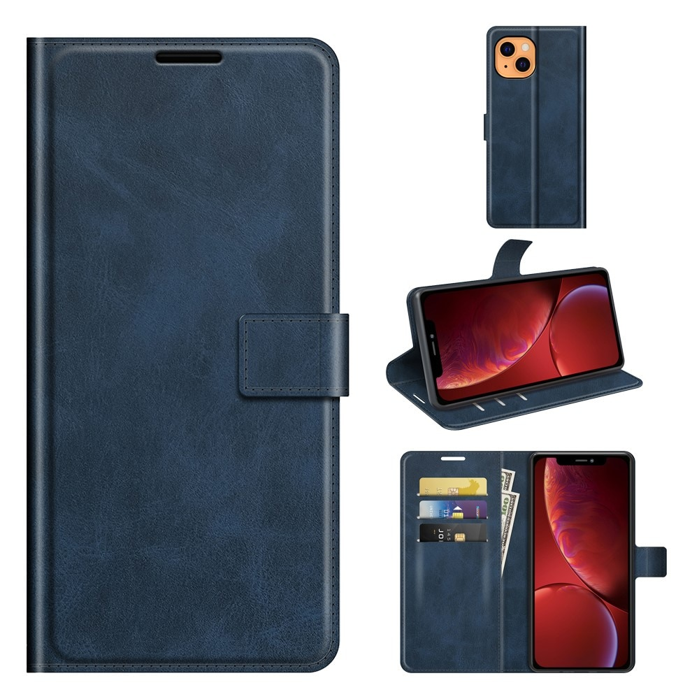 Leather Wallet iPhone 13 Blue