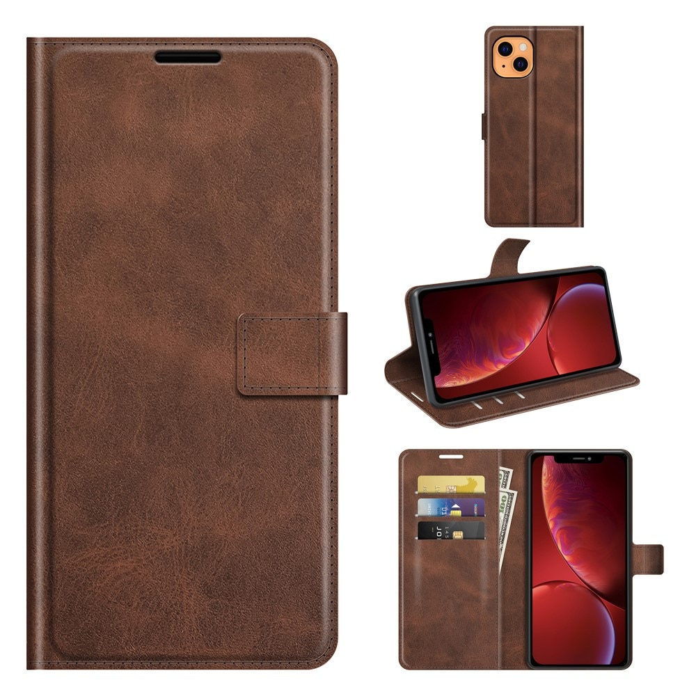 Leather Wallet iPhone 13 Brown