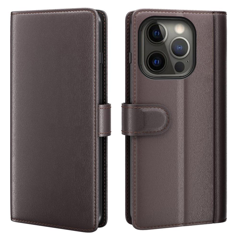 Äkta Läderfodral iPhone 13 Pro Max brun