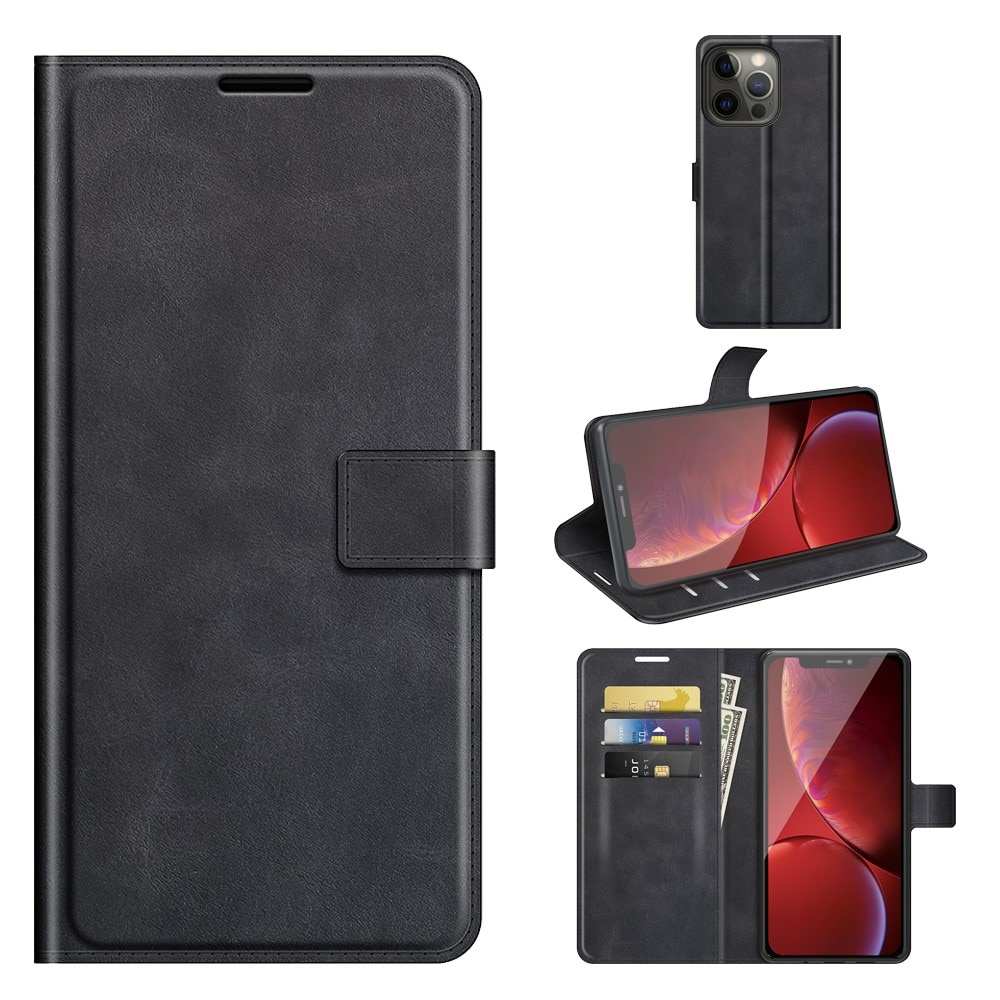 Leather Wallet iPhone 13 Pro Max Black