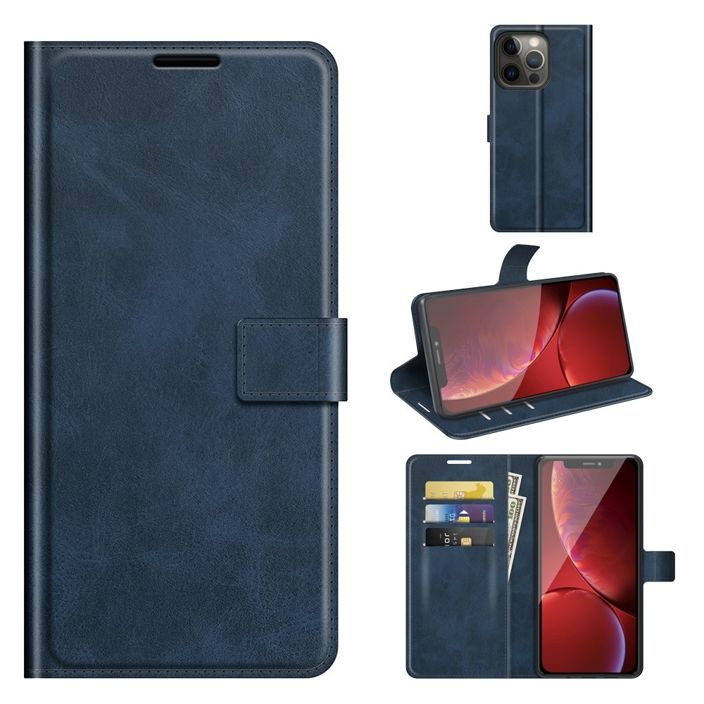 Leather Wallet iPhone 13 Pro Blue