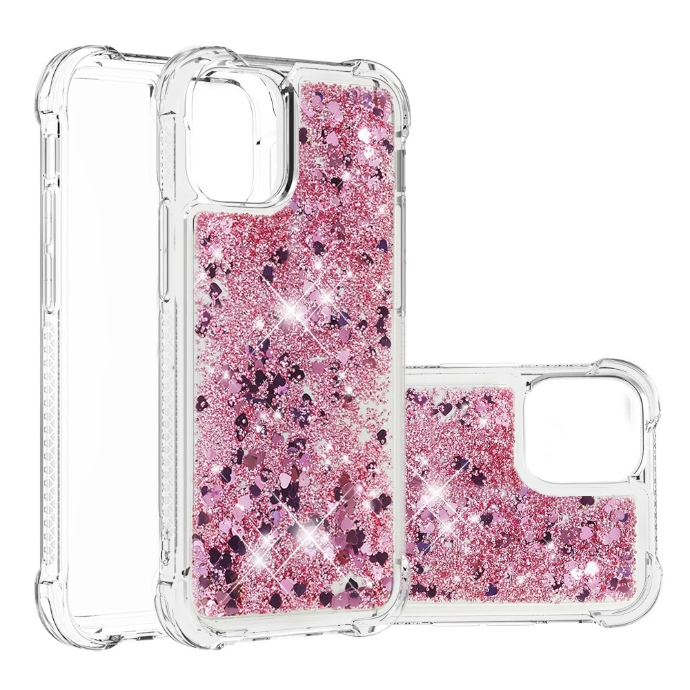 Glitter Powder TPU Case iPhone 13 Mini  roséguld