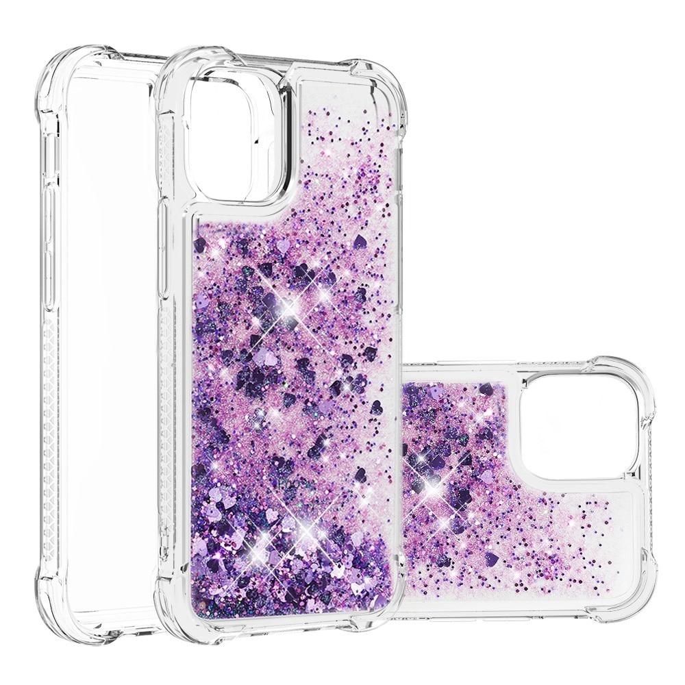 Glitter Powder TPU Case iPhone 13 Mini lila