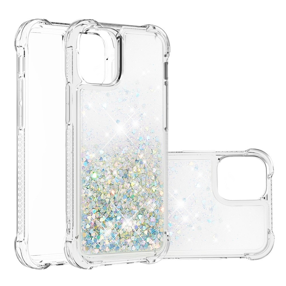 Glitter Powder TPU Case iPhone 13 Mini silver