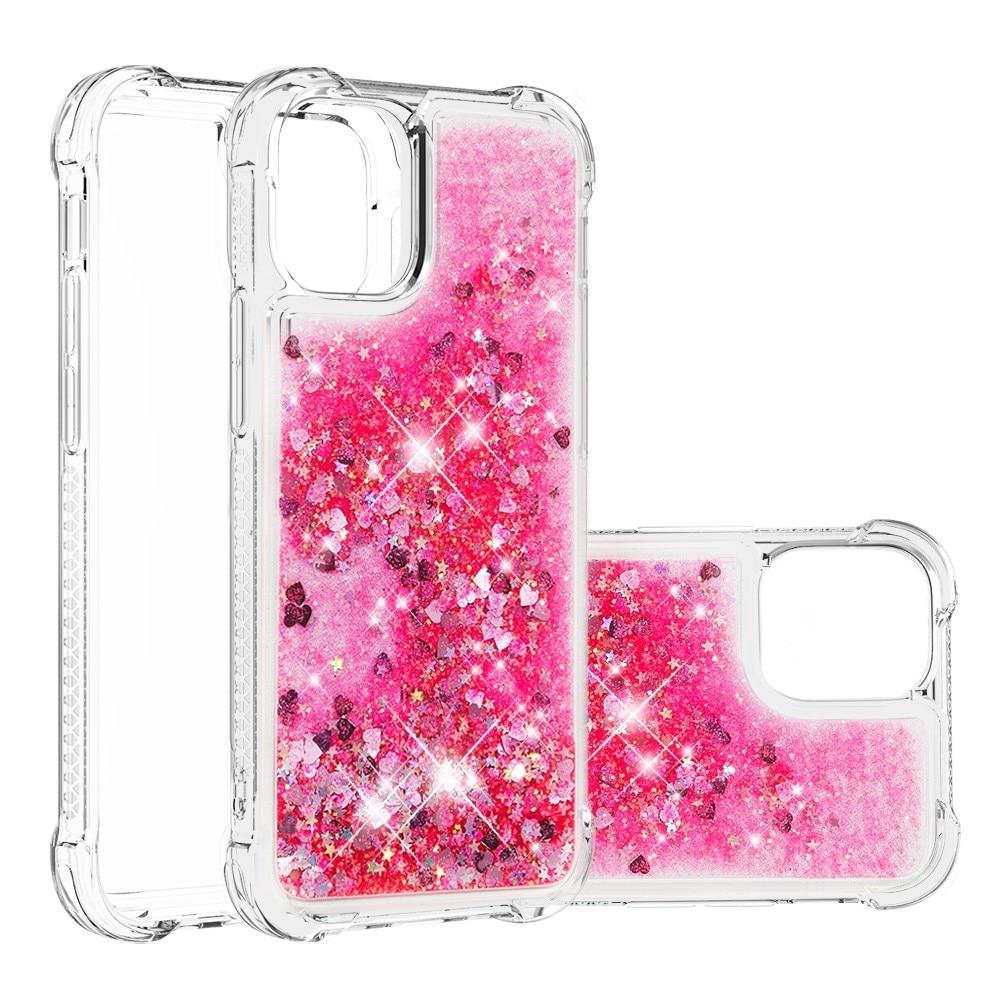 Glitter Powder TPU Case iPhone 13 rosa