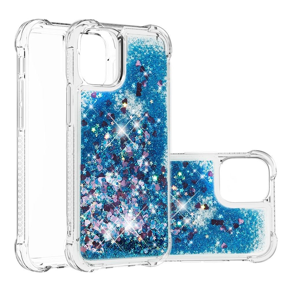 Glitter Powder TPU Case iPhone 13 blå