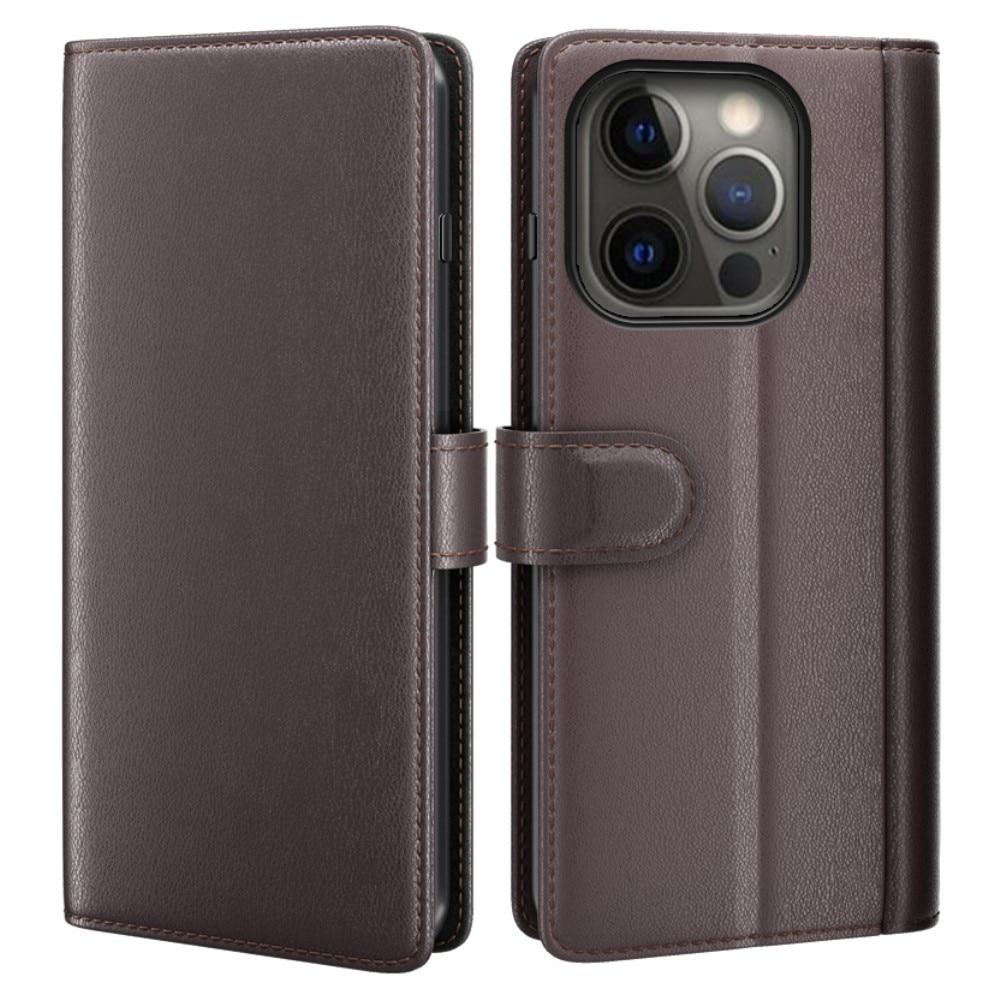 Äkta Läderfodral iPhone 13 Pro brun