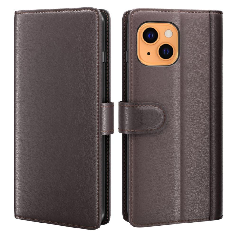 Äkta Läderfodral iPhone 13 brun