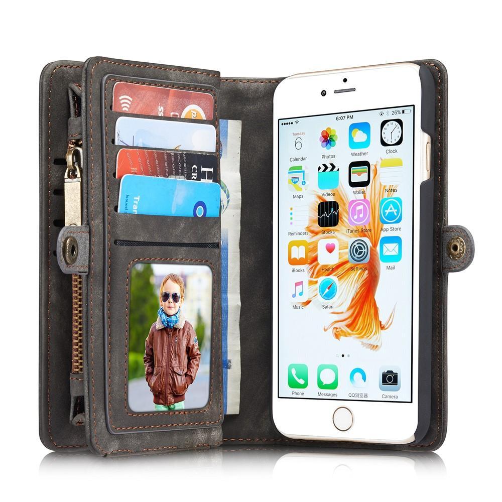 Multi-slot Plånboksfodral iPhone 6 Plus/6S Plus grå