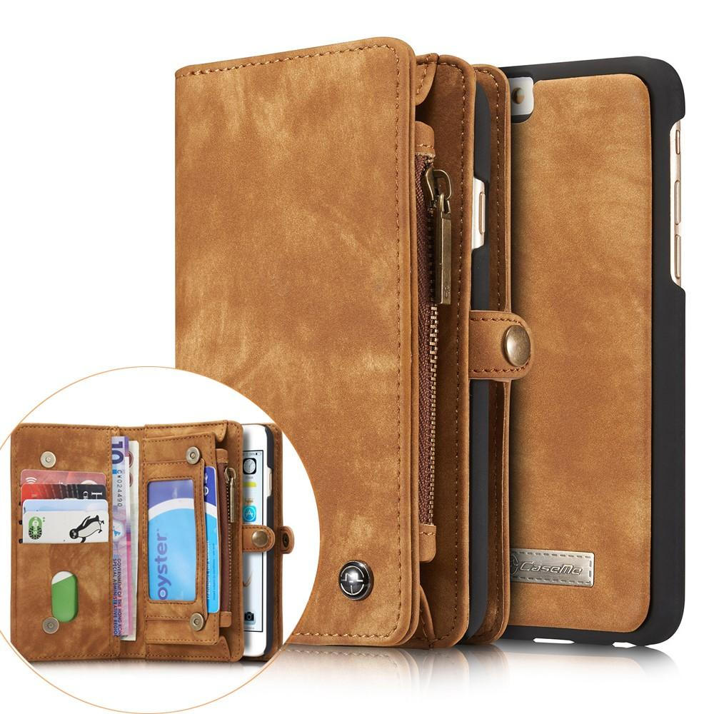Multi-slot Plånboksfodral iPhone 6 Plus/6S Plus brun