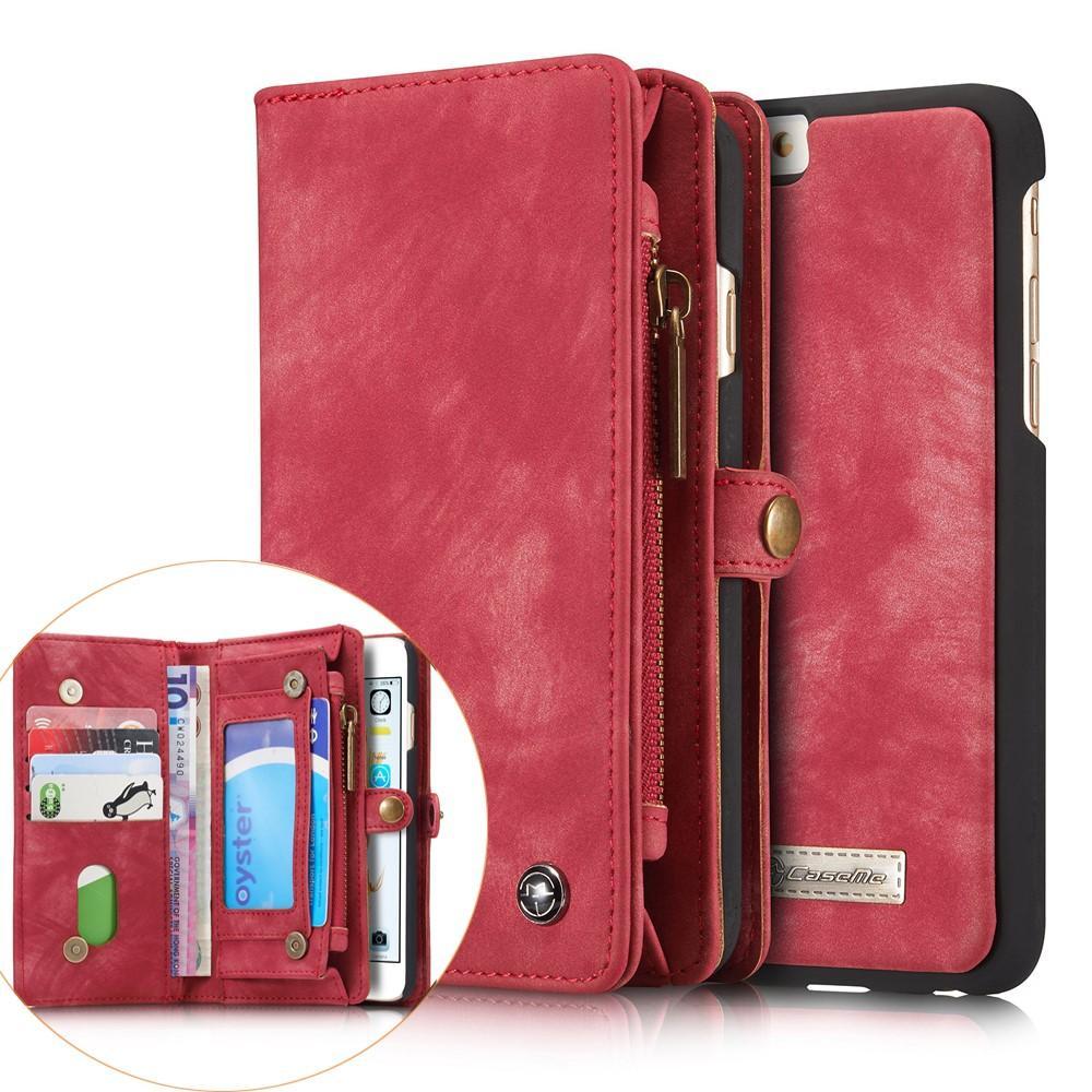 Multi-slot Plånboksfodral iPhone 6/6S röd