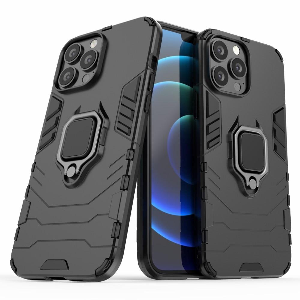 Hybridskal Tech Ring iPhone 13 Pro Max svart