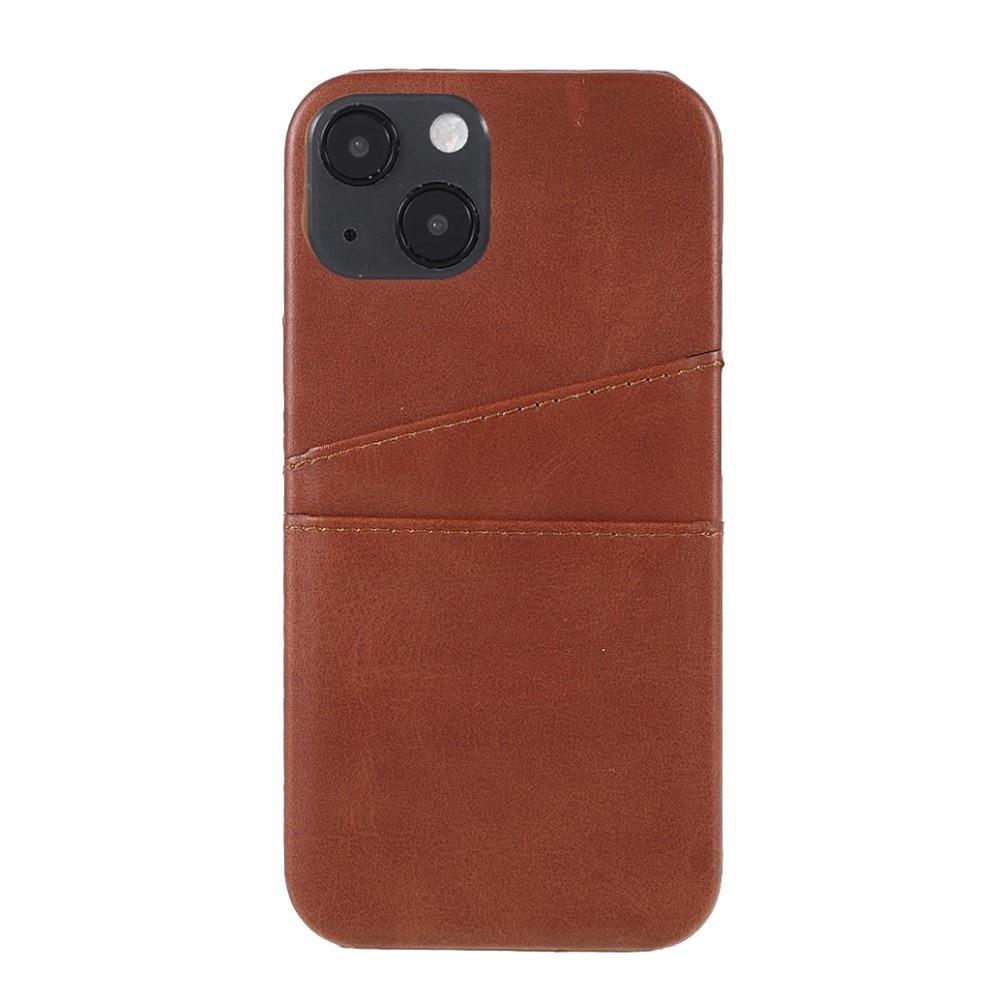 Card Slots Case Apple iPhone 13 Mini brun