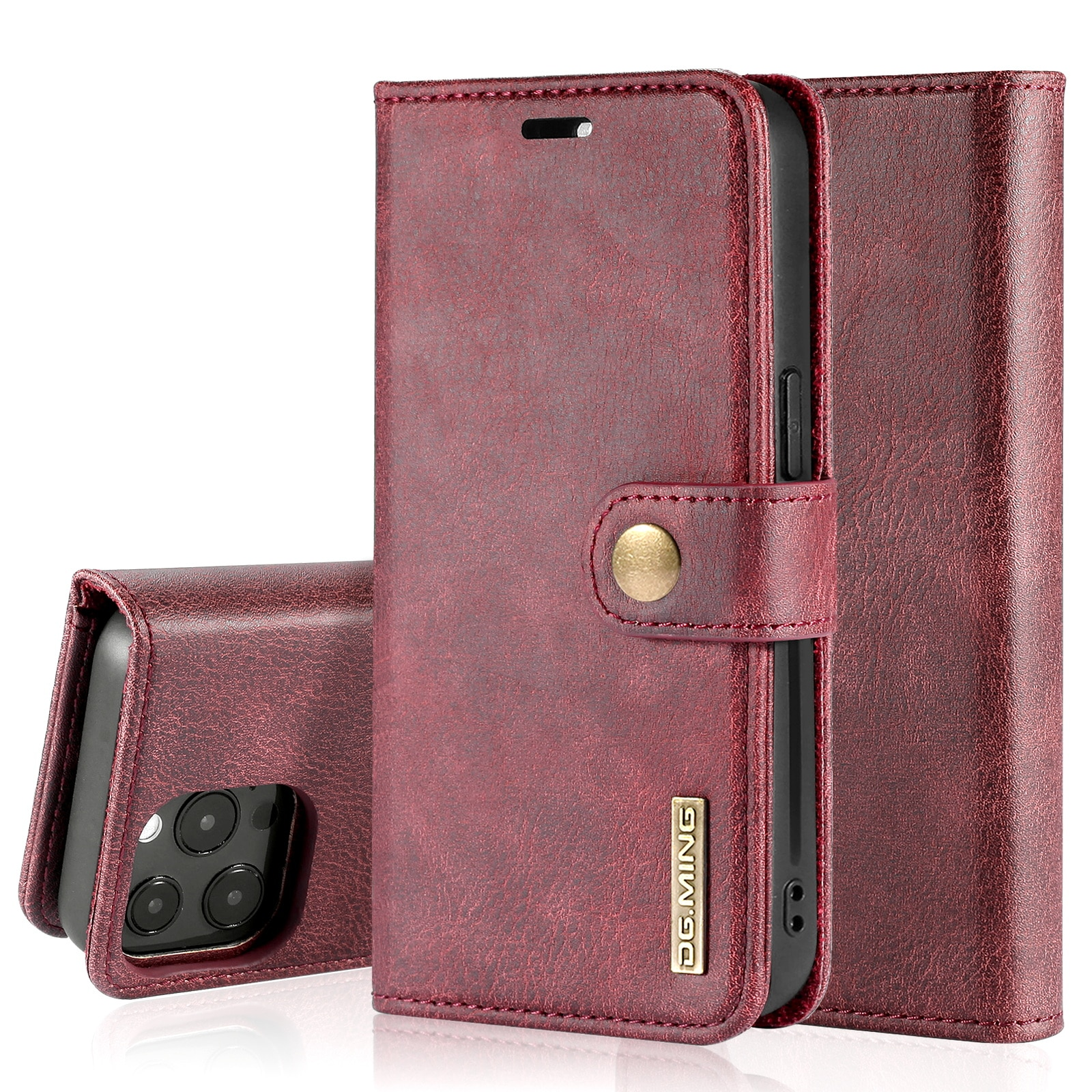 Magnet Wallet iPhone 13 Pro Red