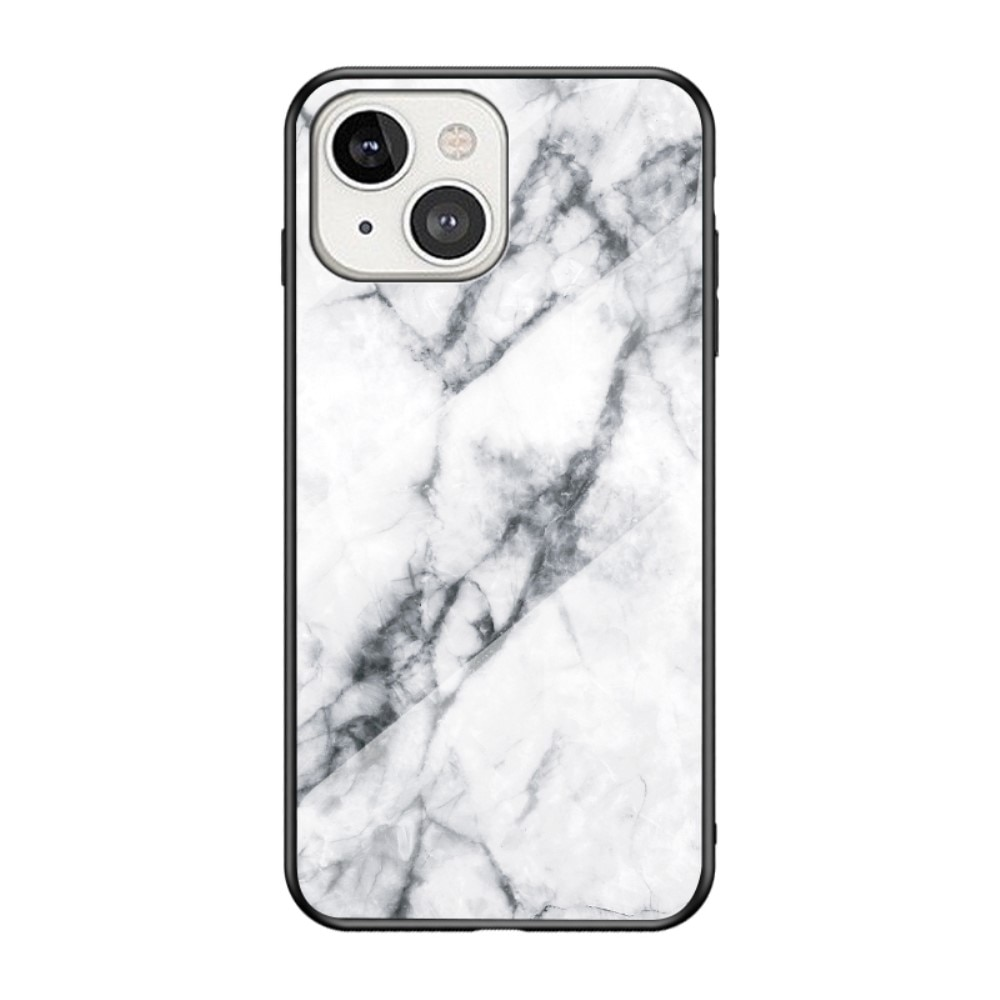 Skal Härdat Glas Apple iPhone 13 Mini vit marmor