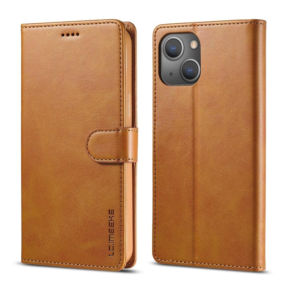 Plånboksfodral iPhone 13 cognac