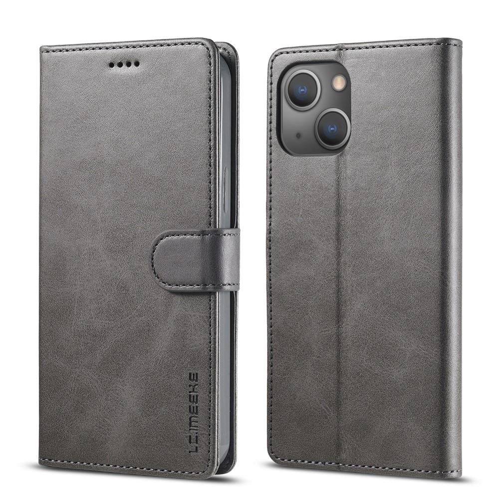Plånboksfodral iPhone 13 grå