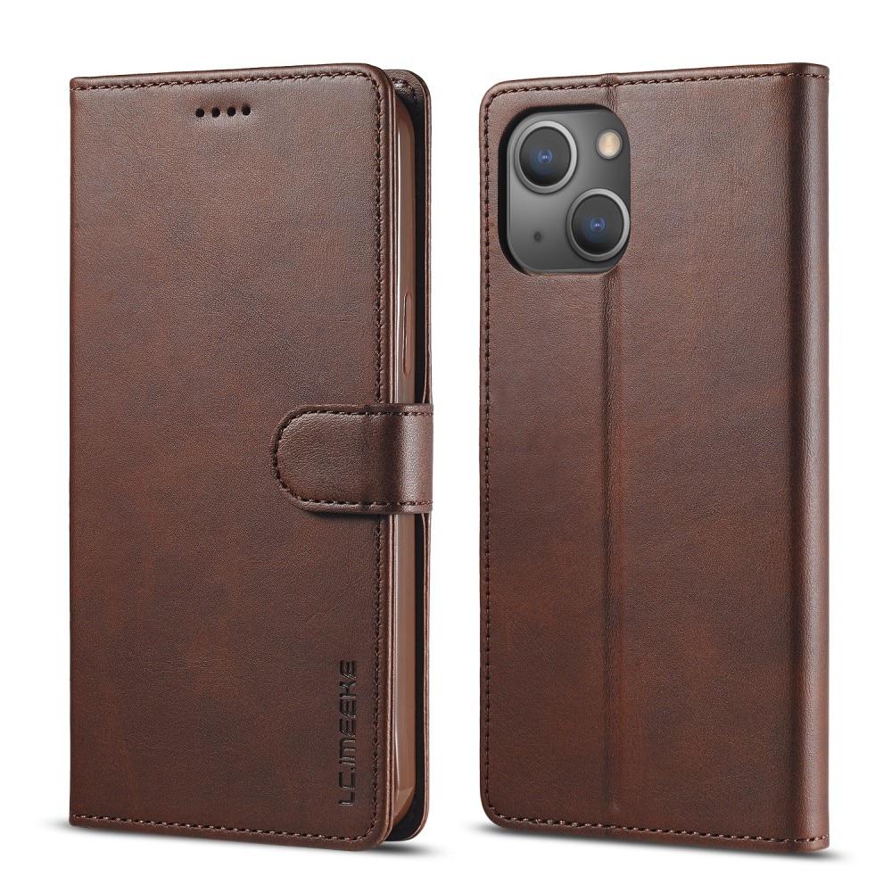 Plånboksfodral iPhone 13 brun
