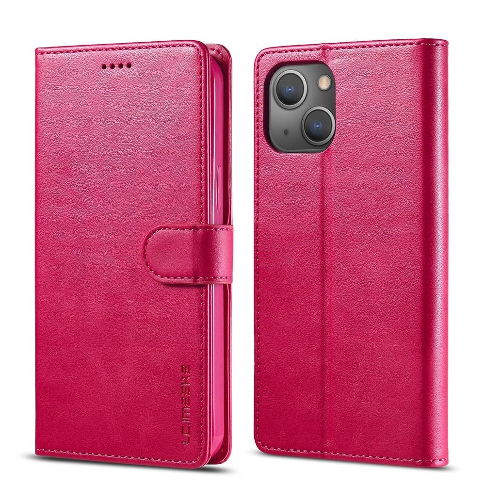 Plånboksfodral iPhone 13 rosa