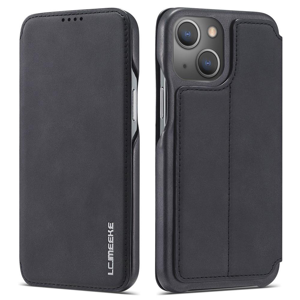 Slim Plånboksfodral iPhone 13 svart