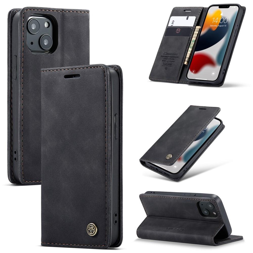 Slim Plånboksfodral iPhone 13 Mini svart