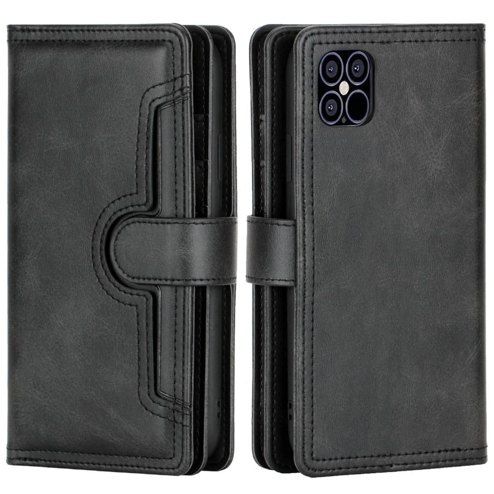 Läderplånbok Multi-slot iPhone 13 Pro svart