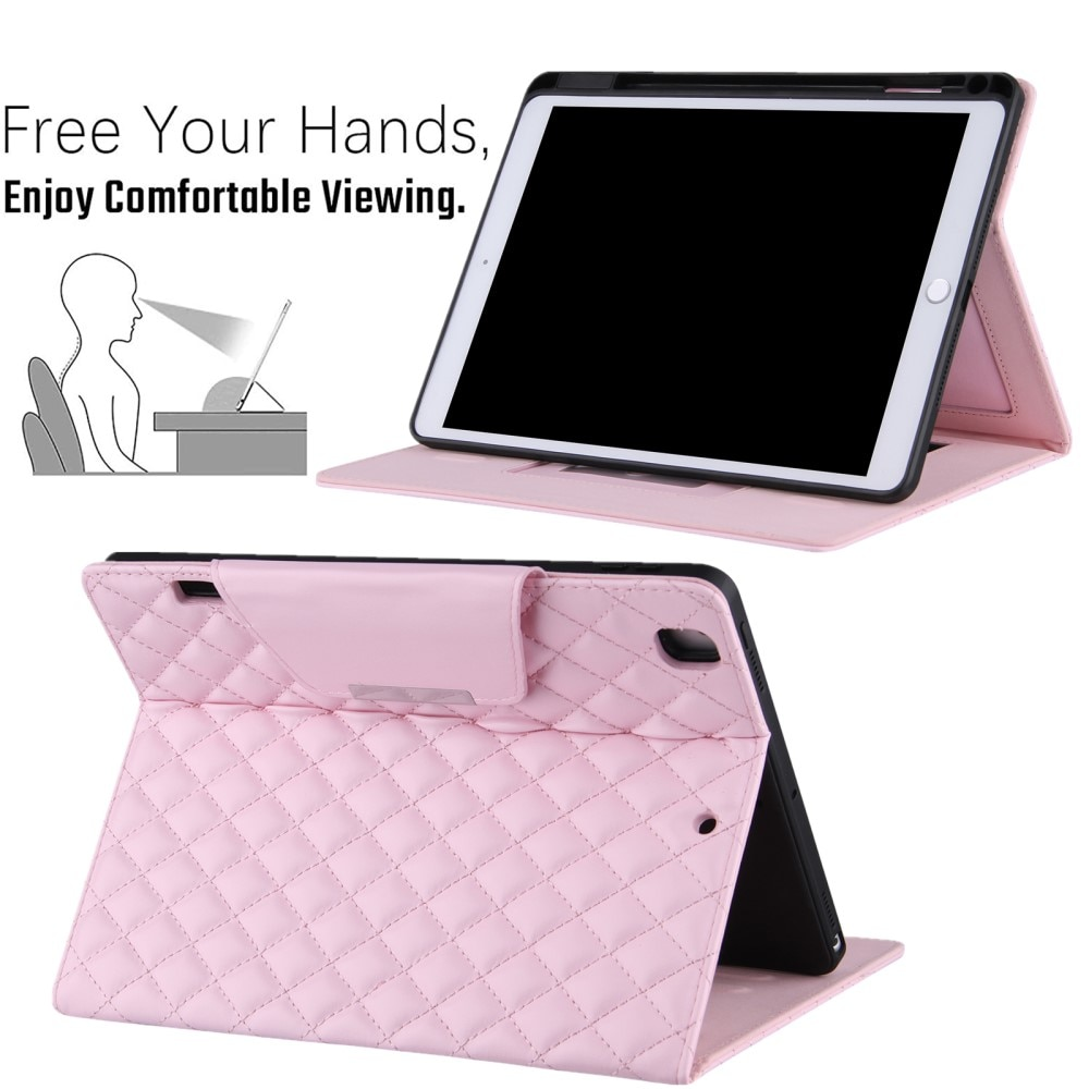 Fodral Apple iPad 10.2/Air 2019/Pro 10.5 Quilted rosa