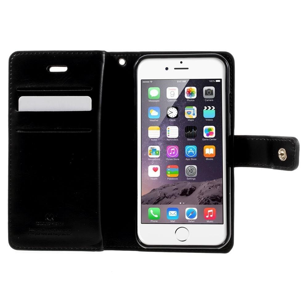 Mansoor Wallet Diary Case iPhone 7/8/SE 2020 svart