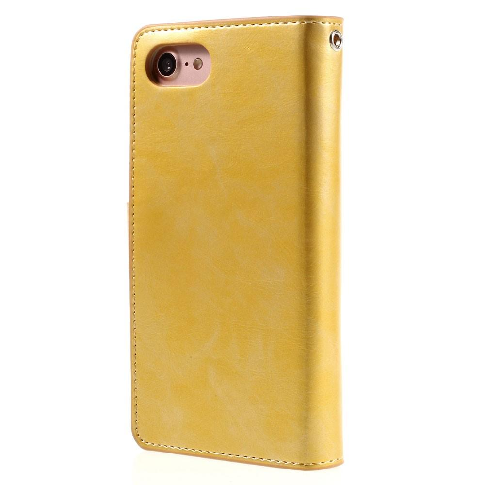 Mansoor Wallet Diary Case iPhone 7/8/SE 2020 guld