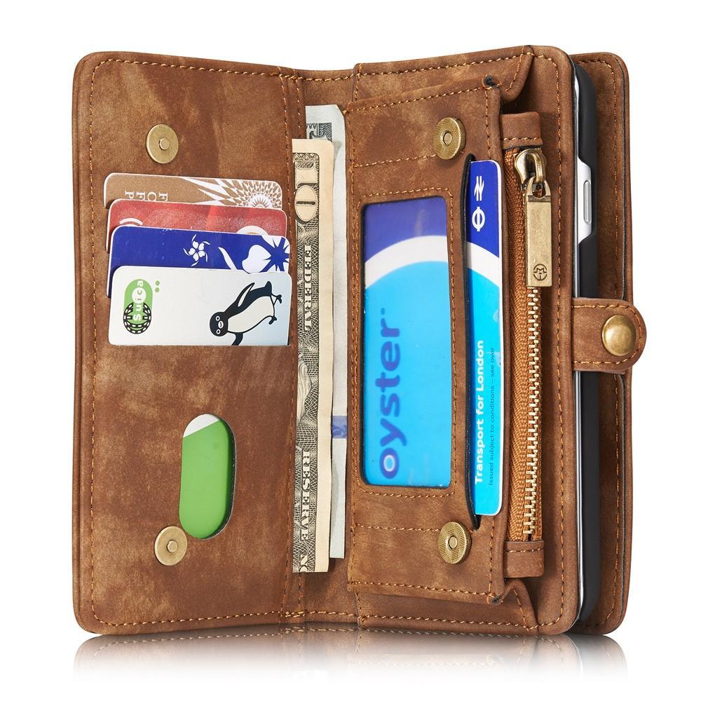 Multi-slot Plånboksfodral iPhone 7/8/SE 2020 brun