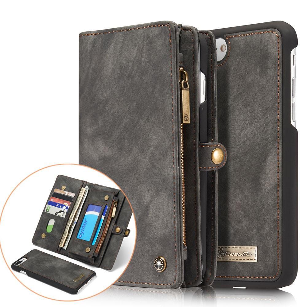 Multi-slot Plånboksfodral iPhone 7 Plus/8 Plus grå