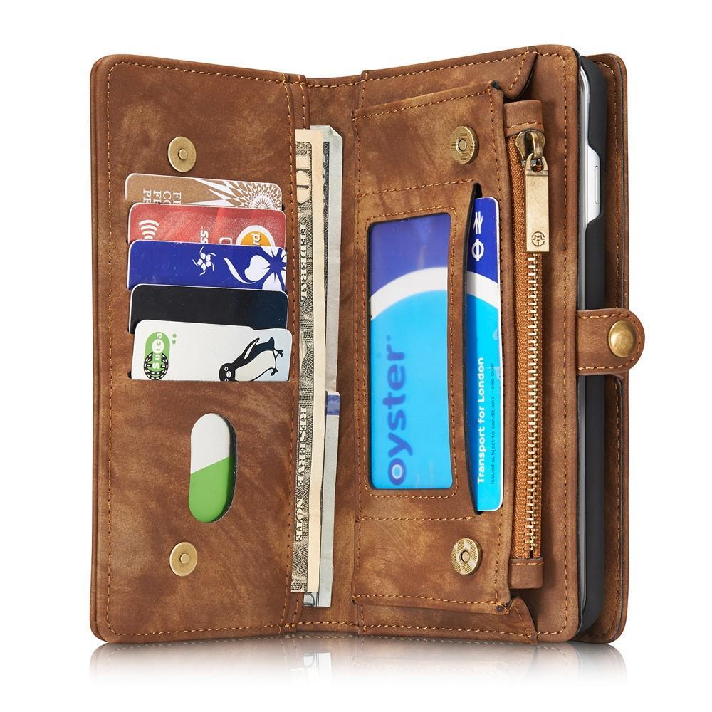 Multi-slot Plånboksfodral iPhone 7 Plus/8 Plus brun