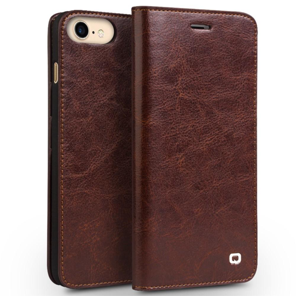 iPhone 7/8/SE 2020 Leather Wallet Case Brown