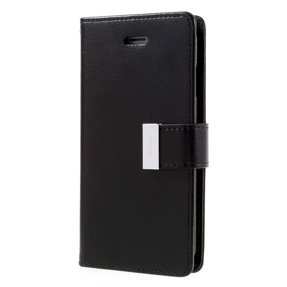 Rich Diary Case Apple iPhone 7/8/SE 2020 svart