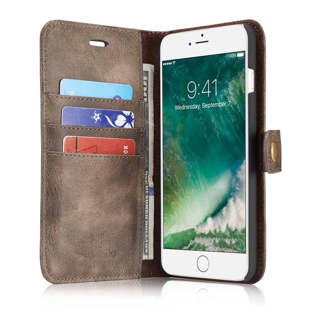 Magnet Wallet iPhone 7 Plus/8 Plus Brown