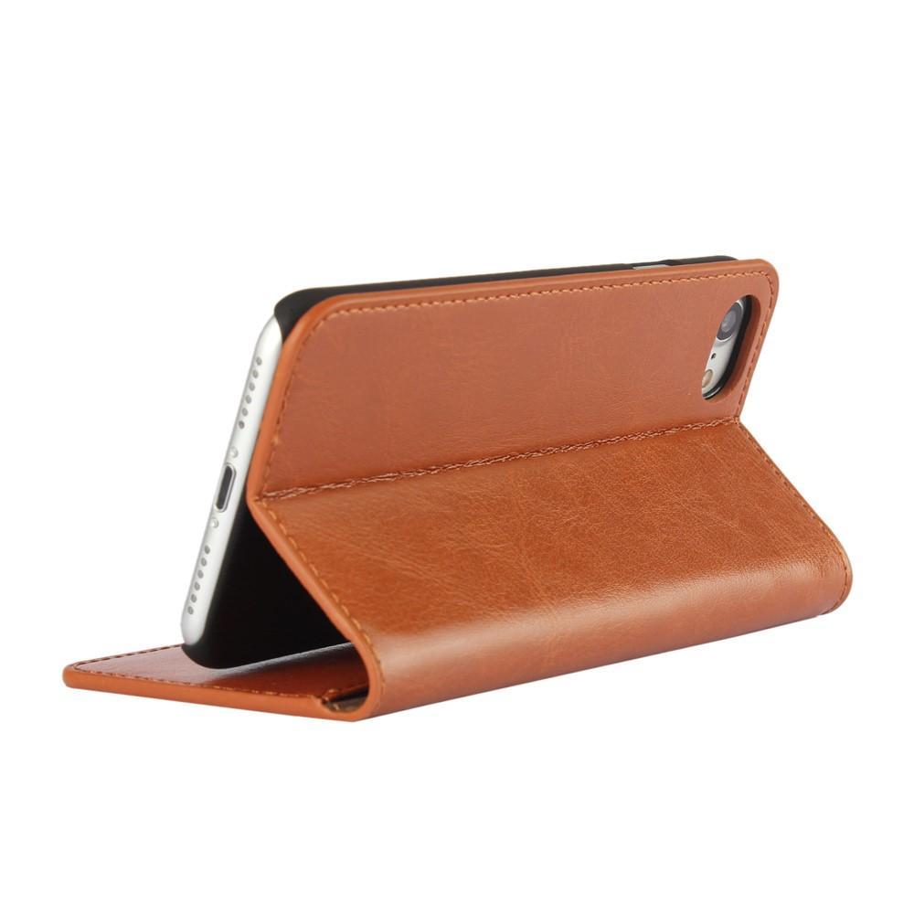 Mobilfodral Äkta Läder iPhone 7/8/SE 2020 brun