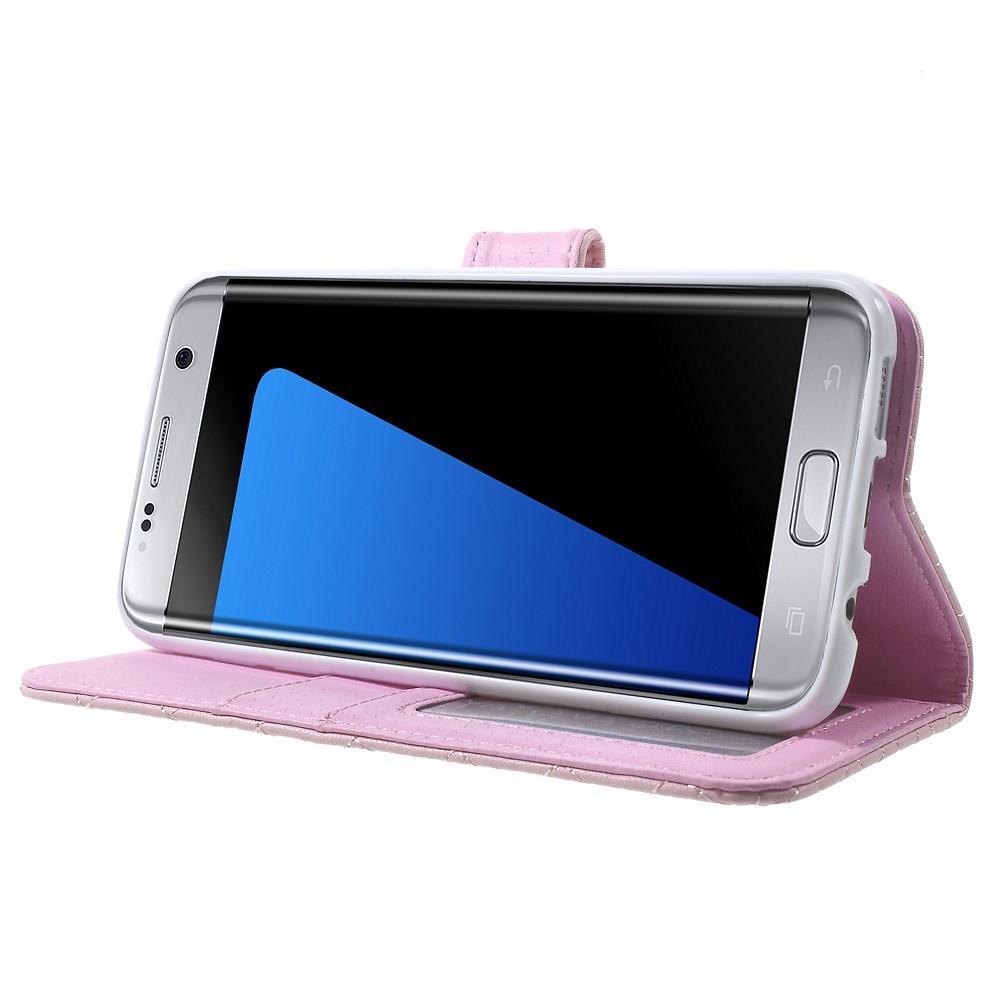 Plånboksfodral Samsung Galaxy S7 Edge Quilted rosa