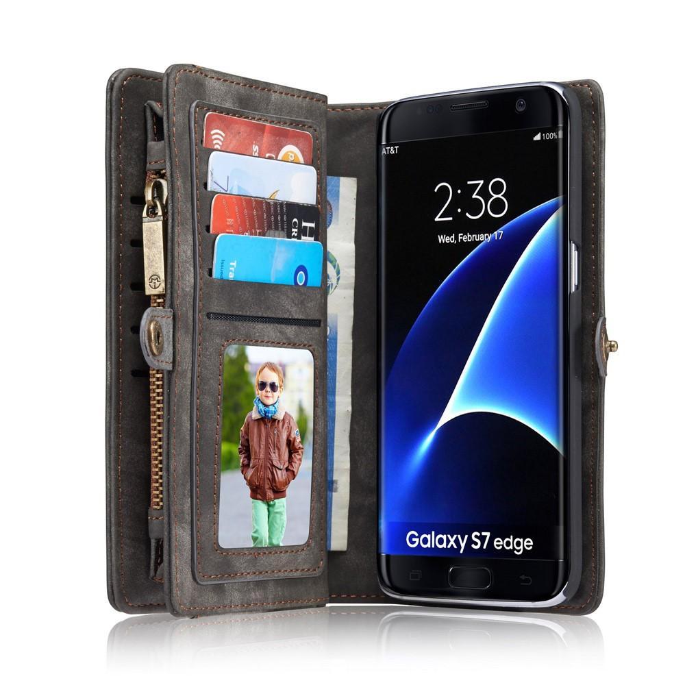 Multi-slot Plånboksfodral Galaxy S7 Edge grå