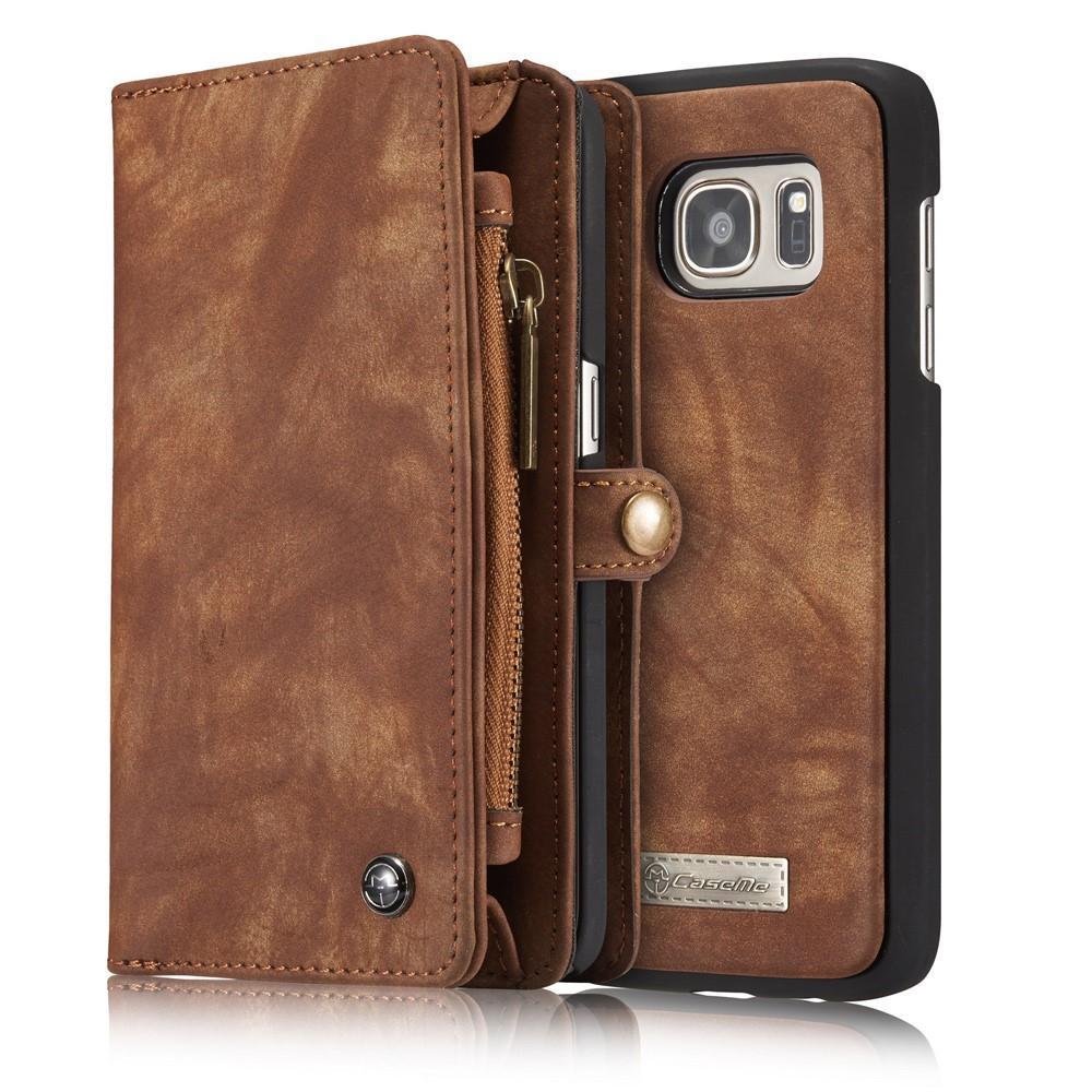 Multi-slot Plånboksfodral Galaxy S7 Edge brun