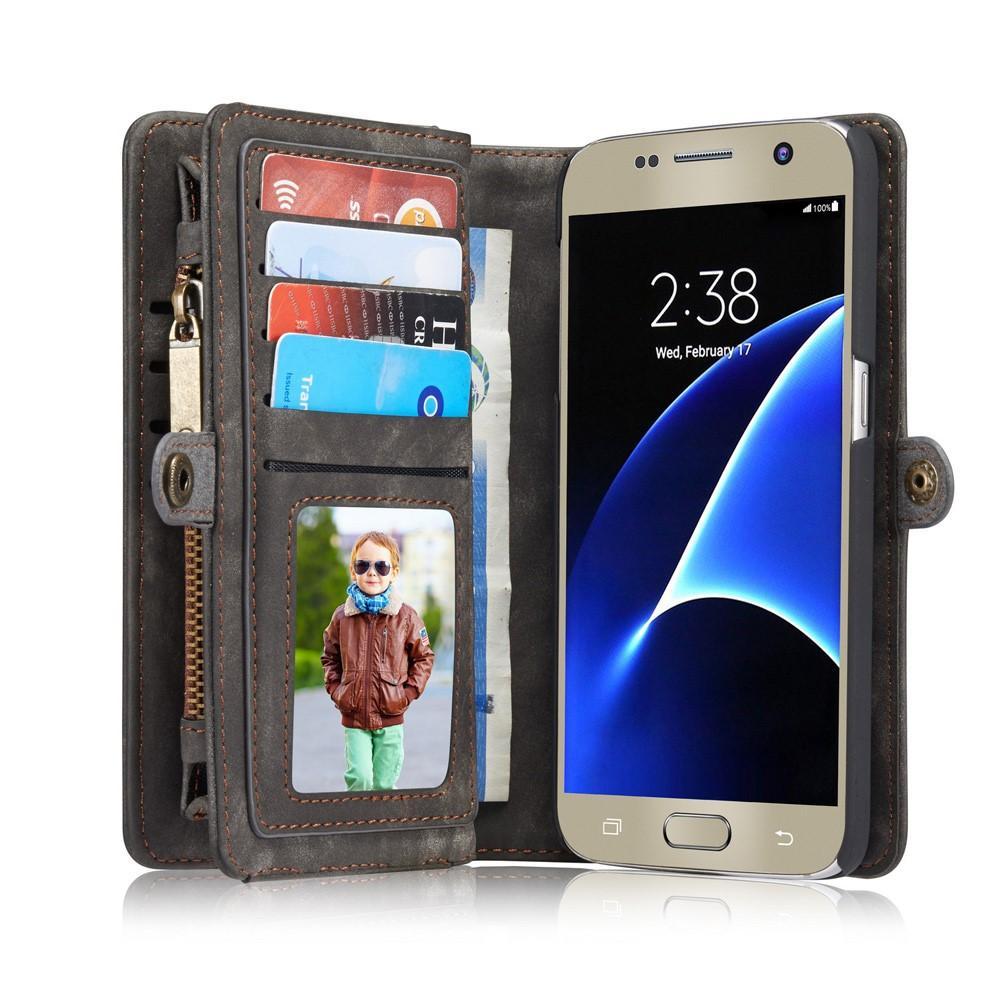 Multi-slot Plånboksfodral Galaxy S7 grå
