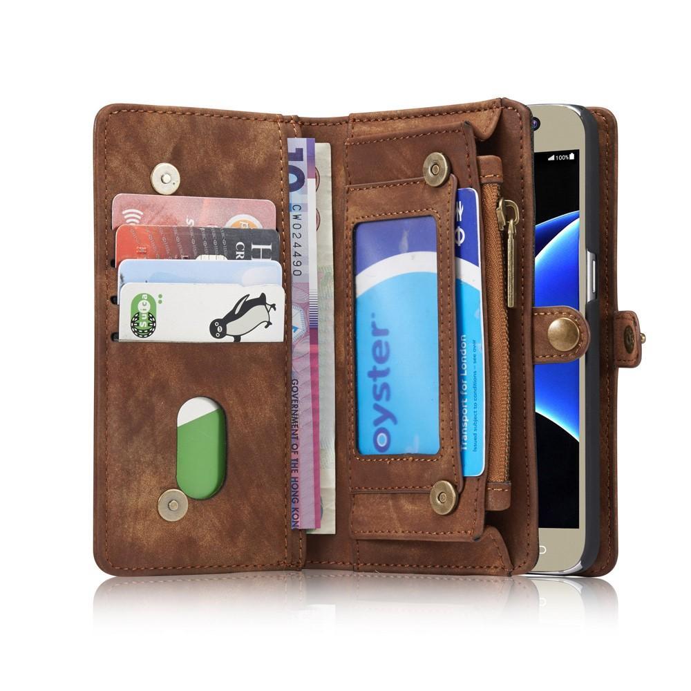 Multi-slot Plånboksfodral Galaxy S7 brun