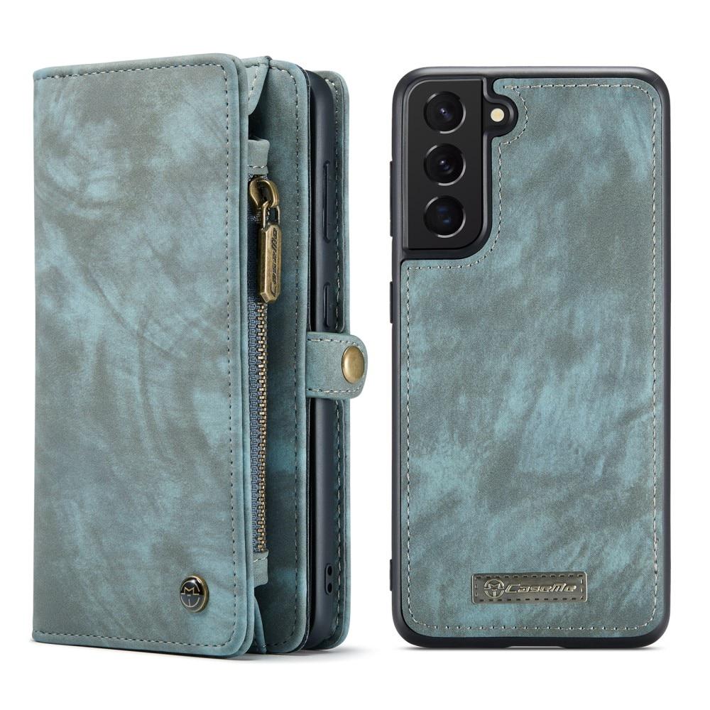 Multi-slot Plånboksfodral Galaxy S21 FE blå