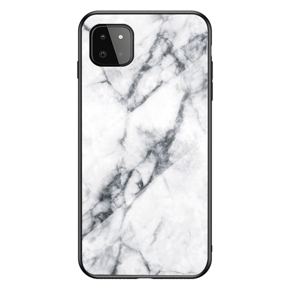 Skal Härdat Glas Samsung Galaxy A22 5G vit marmor